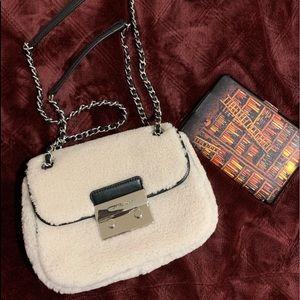 BNWT MK Michael Kors faux fur small Sloan bag
